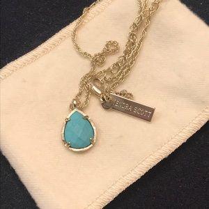 Kendra Scott Gold Turquoise Pendant Necklace